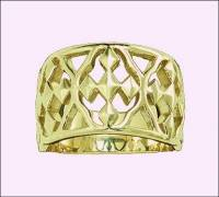 Gold Plated Shield of Faith Ring