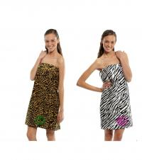 Zebra or Leopard Towel Wraps