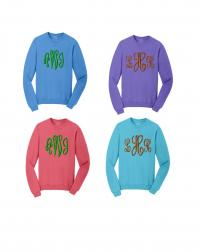 Monogrammed Ladies Preppy Sweatshirts