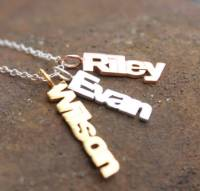 Vertical Names Necklace all finishes