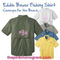 Monogrammed Eddie Bauer Fishing Shirt Short Sleeves