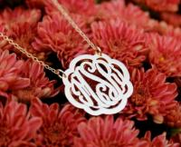 Clover Monogrammed Necklace