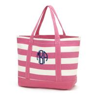 Canvas Tote - Hot Pink Stripe