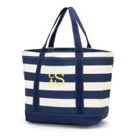 Canvas Tote - Navy Stripe