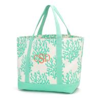 Canvas Tote - Mint Coral