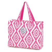 Beach Bag - Pink Aztec