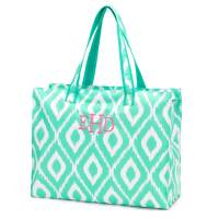 Beach Bag - Mint Ikat