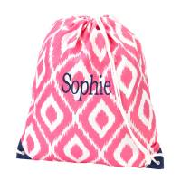 Gym Bag - Pink Ikat