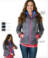 Monogrammed Ladies Quilted Puffy Jacket