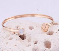 Layering cuff with CZ and Monogram