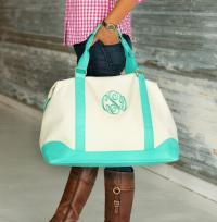 Weekender with Mint Trim
