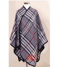 Monogrammed Grey Plaid Wrap