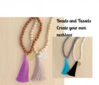 "Beads and Tassle 30"" Necklace"