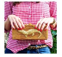 Clutch Basket Weave Purse