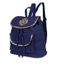 Durry Backpack Navy Gold Trim