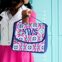 Monogrammed Lunch Bag Mia Tile Design