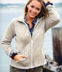 Monogrammed Charles River Woman's Sweater Fleece Jacket