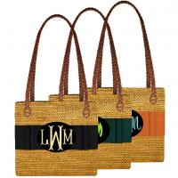 Monogrammed Rectangle Bali Bag
