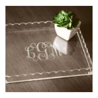 Etched Acrylic Scallop Tray