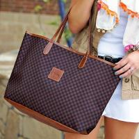 Monogrammed St. Anne Petite Tote Spring Leather Patch