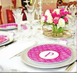 Monogrammed Tableware with so many options from The Pink Monogram Gallery_229 NULL