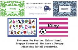 New Preppy Placemats- Reversible and Educational! Gallery_83 NULL