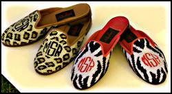 Monogrammed Needlepoint Shoes  Monogrammed Needlepoint Shoes Apparel & Accessories > Shoes > Flats