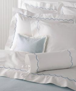 Matouk Scallop Monogrammed Sheet Collection Matouk Scallop Monogrammed Sheet Collection Home & Garden > Linens & Bedding > Bedding