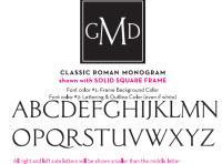Classic Roman Monogram