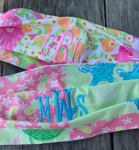 custom face mask lilly pulitzer patterns