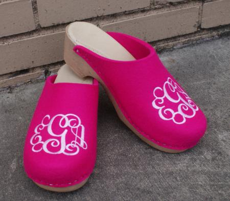 monogrammed clog lovers sale