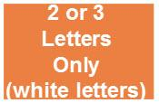 Solid Rectangle For 2 Or 3 Letters Only (letters Will Be White)
