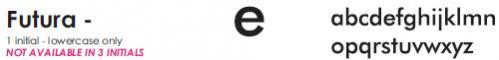 Futura - 1 Letter Lowercase
