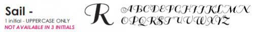 Sail - 1 Letter Uppercase