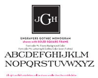 Engravers Gothic Monogram