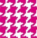 8337 Houndstooth Pink