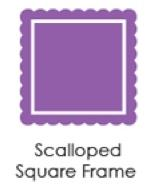 Scalloped Square Frame