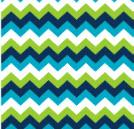 Chevron Multi Blue