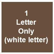 Solid Rectangle For 1 Letter Only (letter Will Be White)