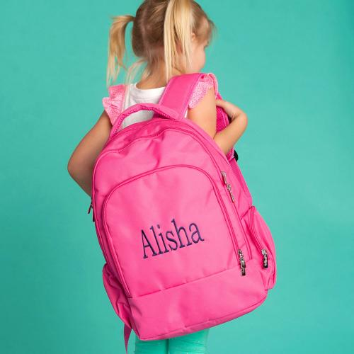 Personalized Hot Pink Backpack  Luggage & Bags > Backpacks