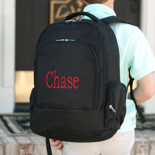 Personalized Black Backpack  Luggage & Bags > Backpacks