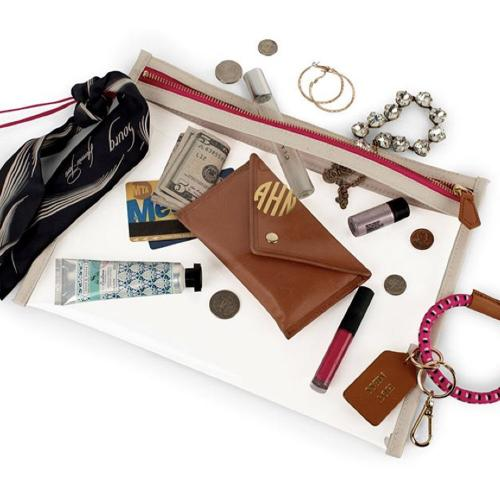 Boulevard Clear Gigga Small Pouch Wristlet  Apparel & Accessories > Handbags > Wristlets