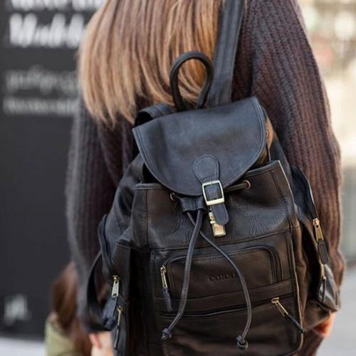 Personalized Extra Large Leather Backpack  Luggage & Bags > Backpacks