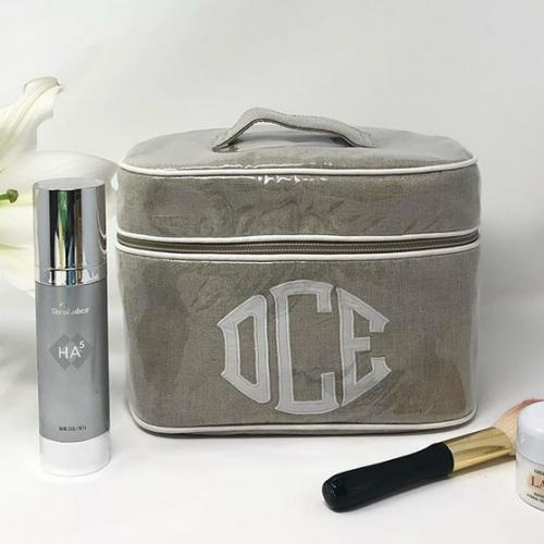 Monogrammed Walker Valentine Walton Oval Travel Case  Luggage & Bags > Toiletry Bags