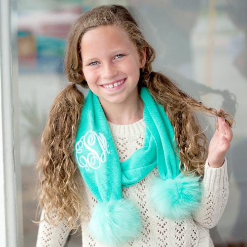 Personalized Mint Green Childs Bella Scarf  Apparel & Accessories > Clothing Accessories > Scarves & Shawls