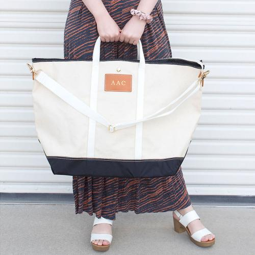 Boulevard Canvas Avery Jumbo Tote  Luggage & Bags > Shopping Totes