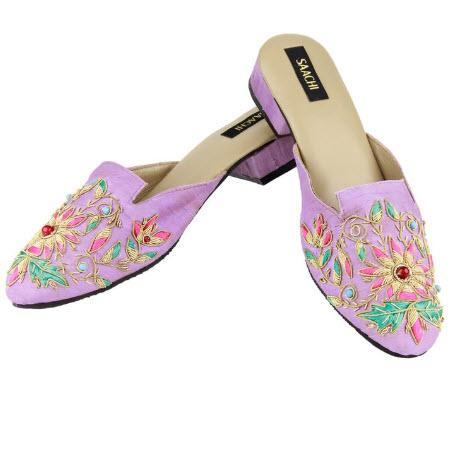 Saachi Pink Passion Motif Slides  Apparel & Accessories > Shoes > Clogs & Mules