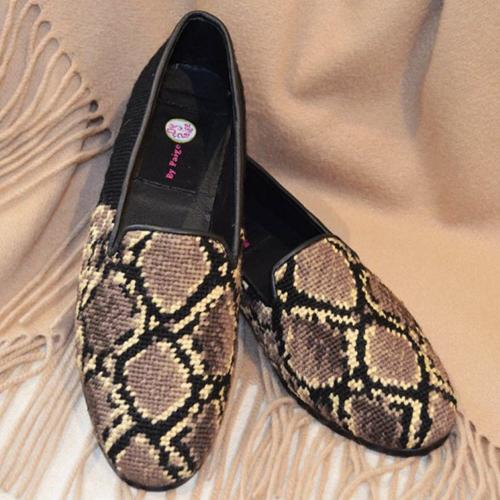 By Paige Ladies Snake Skin Needlepoint Loafers  Apparel & Accessories > Shoes > Loafers