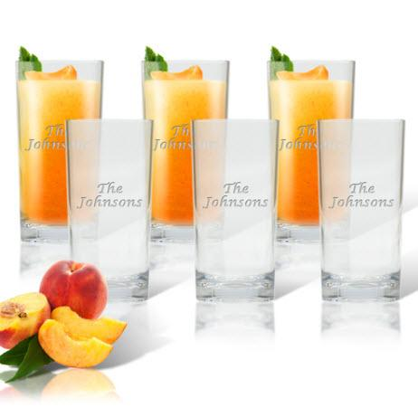 Glass Highball Cooler Personalized Set of 6  Home & Garden > Kitchen & Dining > Tableware > Drinkware > Highball Glasses