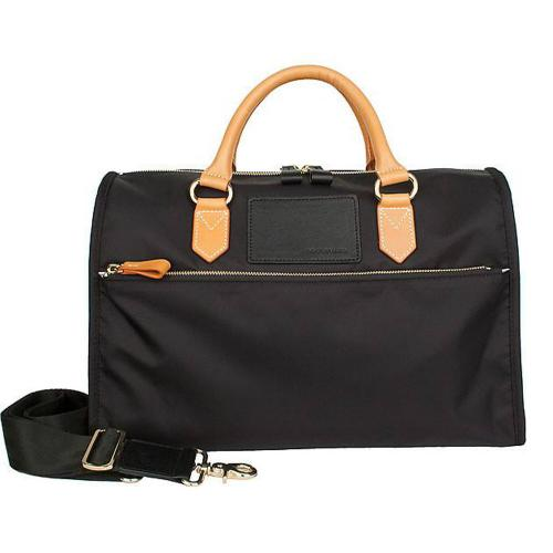 Boulevard Melissa Nylon and Leather Satchel  Apparel & Accessories > Handbags > Satchels
